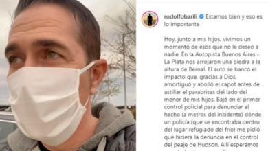 """Photo of Rodolfo Barili fue víctima de un ataque mientras manejaba: """"La sensación de indefensión es difícil de borrar"""""""