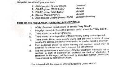 Iesco regukarization orders