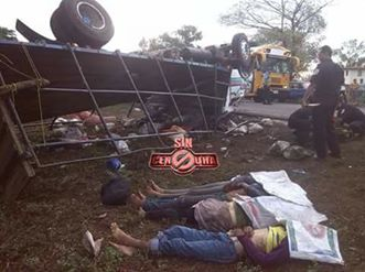 Un Saldo de treinta y cinco heridos y cuatro fallecidos en accidente de tránsito en carretera León - Malpaisillo.