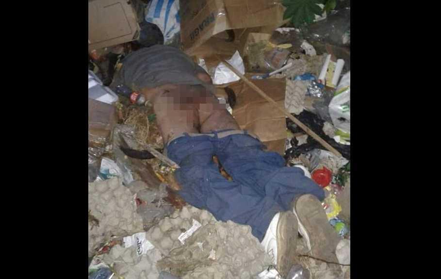 Cadáver violentado abandonado cerca de la Terminal