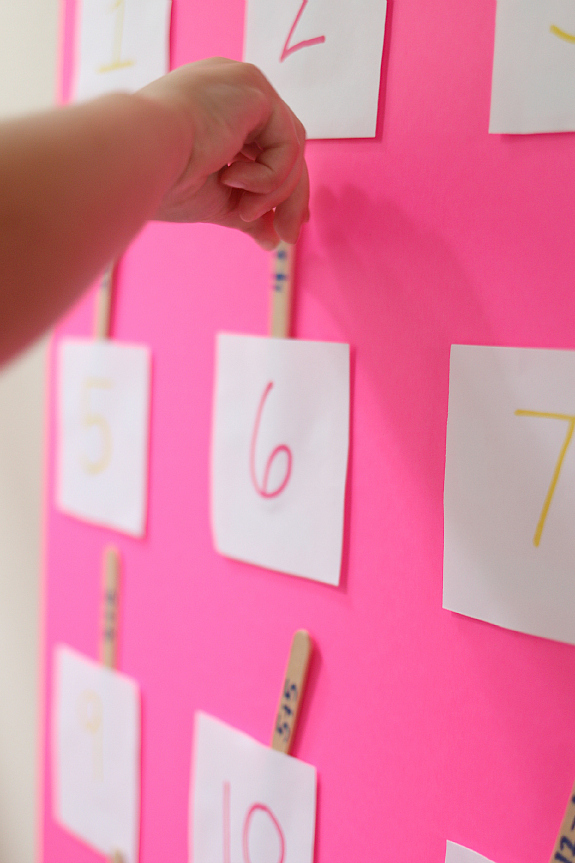 Easy Diy Pocket Chart & Math Activity  No Time For Flash Cards