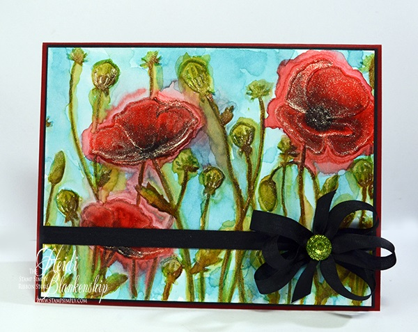 Watercolored Poppies By Heidi Blankenship