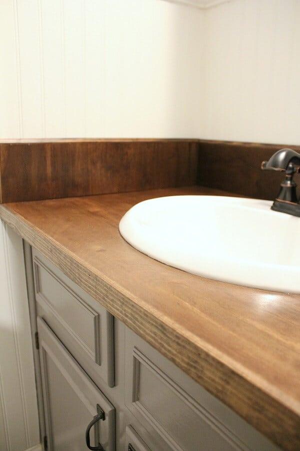 diy wood bathroom countertop an easy