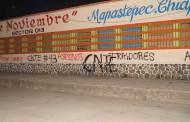 """Profesores de la CNTE de la sección 7 y 40, realizan pinta a la fachada de la escuela primaria   """"20 de noviembre"""" en Maspastepec"""