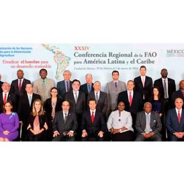 Los países de América Latina y el Caribe reiteran decisión de lucha contra el hambre