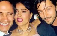 Salma se junta en Cannes con los 'charolastras' Gael y Diego