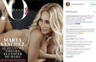Marta Sánchez, desnuda contra el cáncer