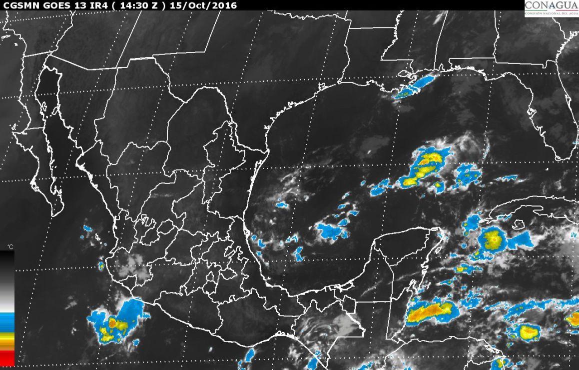 Tormentas muy fuertes, se prevén hoy en Sinaloa, Durango, Jalisco, Colima y Michoacán