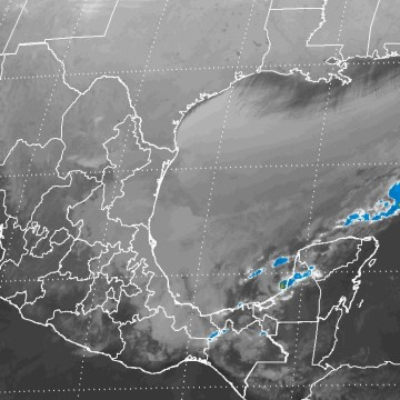 Se prevén durante la noche lluvias intensas en zonas de Veracruz, Oaxaca, Chiapas, Tabasco, Puebla y Campeche