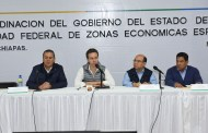 Velasco Coello y Gutiérrez Candiani evalúan avances para la conformación de la ZEE de Puerto Chiapas