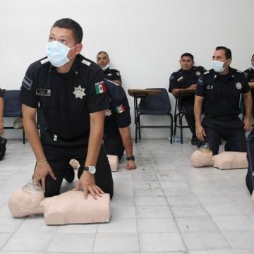 Salud capacita a la Policía federal como primer respondiente en primeros auxilios