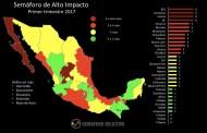 Semáforo Delictivo ubica a Chiapas con menor tasa de delitos de alto impacto