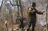 Se refuerza el combate de incendio en Frontera Comalapa
