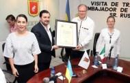Fernando Castellanos nombra a embajador de Ucrania como huésped distinguido