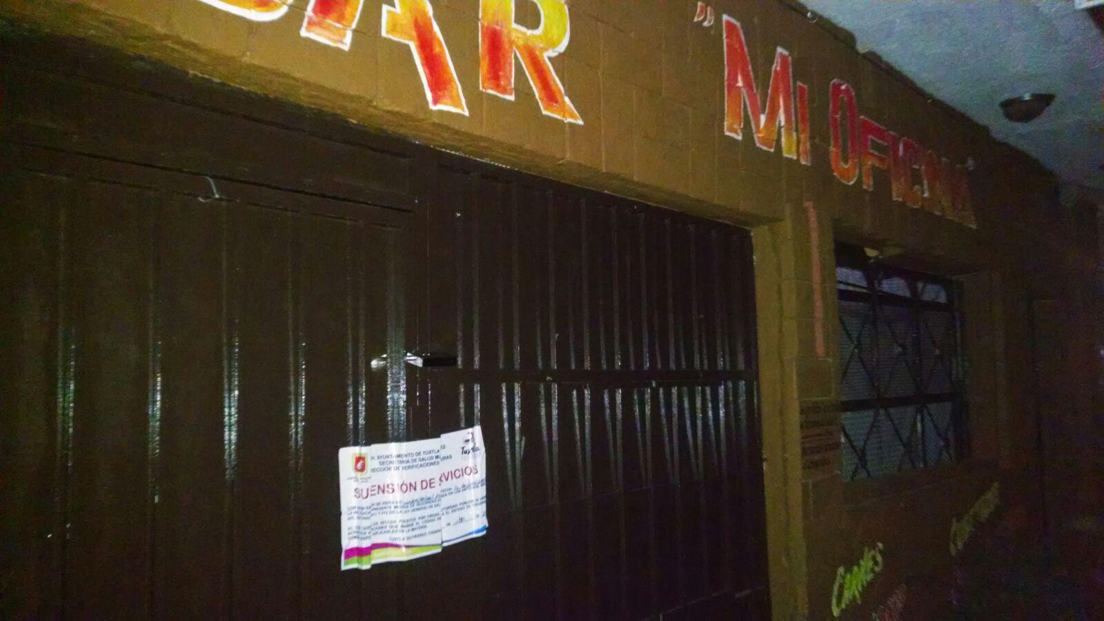 Clausuran seis bares en Tuxtla por no respetar horarios de funcionamiento