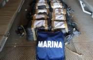 Semar localiza 13 bultos con cocaína flotando frente a Puerto Chiapas
