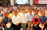 Ayuntamiento de Tuxtla cumple antes de tiempo con prestaciones por el Día del Burócrata