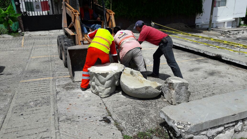 Ayuntamiento de Tuxtla puso a resguardo el monumento de la anexión de Chiapas a México