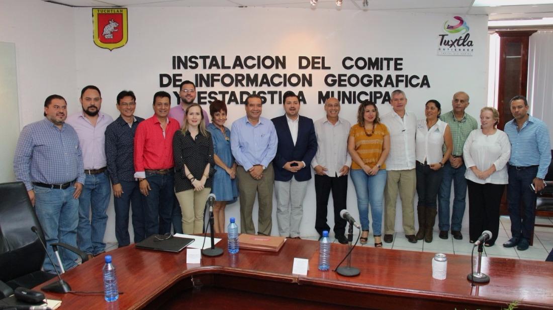 Tuxtla Gutiérrez ciudad pionera en el estado al contar con un Comité de Información, Geografía y Estadística Municipal