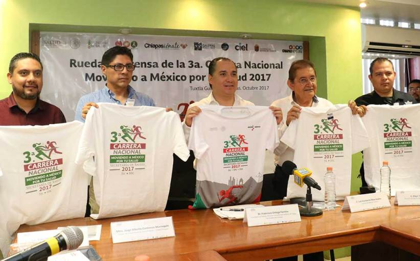 """Chiapas se suma a la 3ra. Carrera Nacional """"Moviendo a México por tu salud"""""""