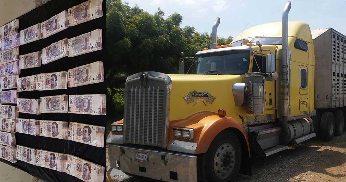 SSyPC asegura más de un millón de pesos, en camarote de camión
