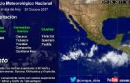 Se prevén tormentas muy fuertes en Chiapas, y fuertes en Oaxaca, Tabasco, Yucatán, Campeche y Quintana Roo
