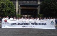 Alumnos de la Escuela Nacional de Protección Civil Campus Chiapas, visitan el CENAPRED