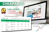Chiapas, primer lugar nacional en portales de gobierno del país
