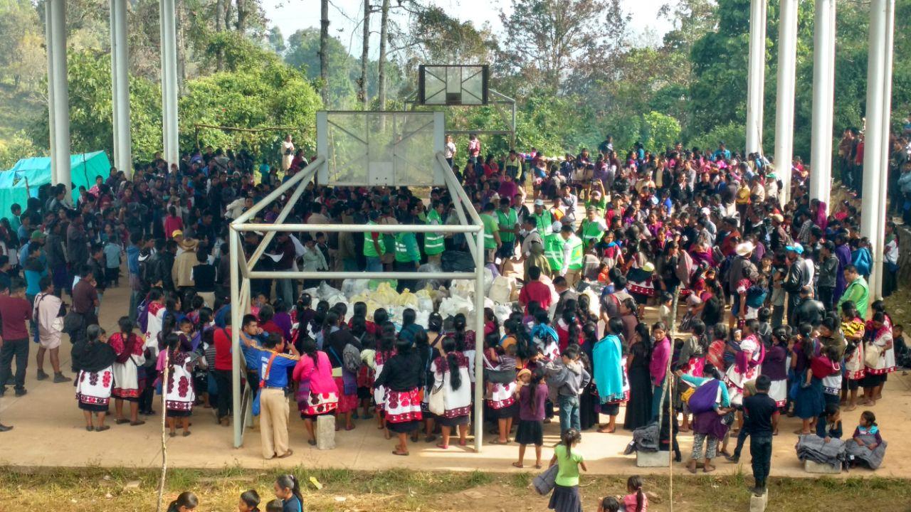 Avanza despliegue de ayuda humanitaria en Chalchihuitán y Chenalhó