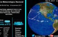 Bajas temperaturas matutinas con posibles heladas se prevén en las montañas de 14 entidades de México