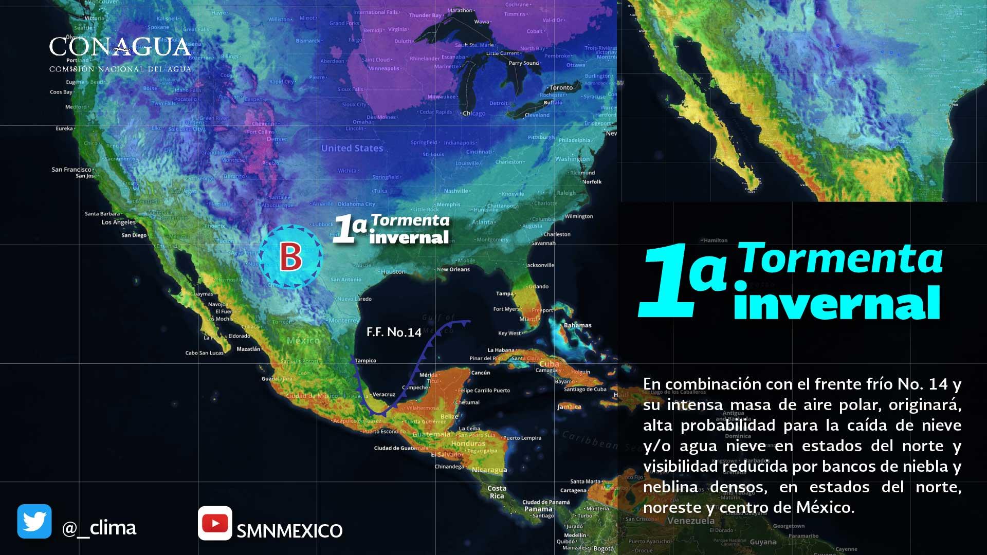 Protección Civil da seguimiento a la primer tormenta invernal que generará descenso de temperaturas en Chiapas