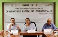 """Ayuntamiento de Tuxtla y Secretaría de Salud del Estado instalan """"Observatorio Estatal de Lesiones Viales"""""""
