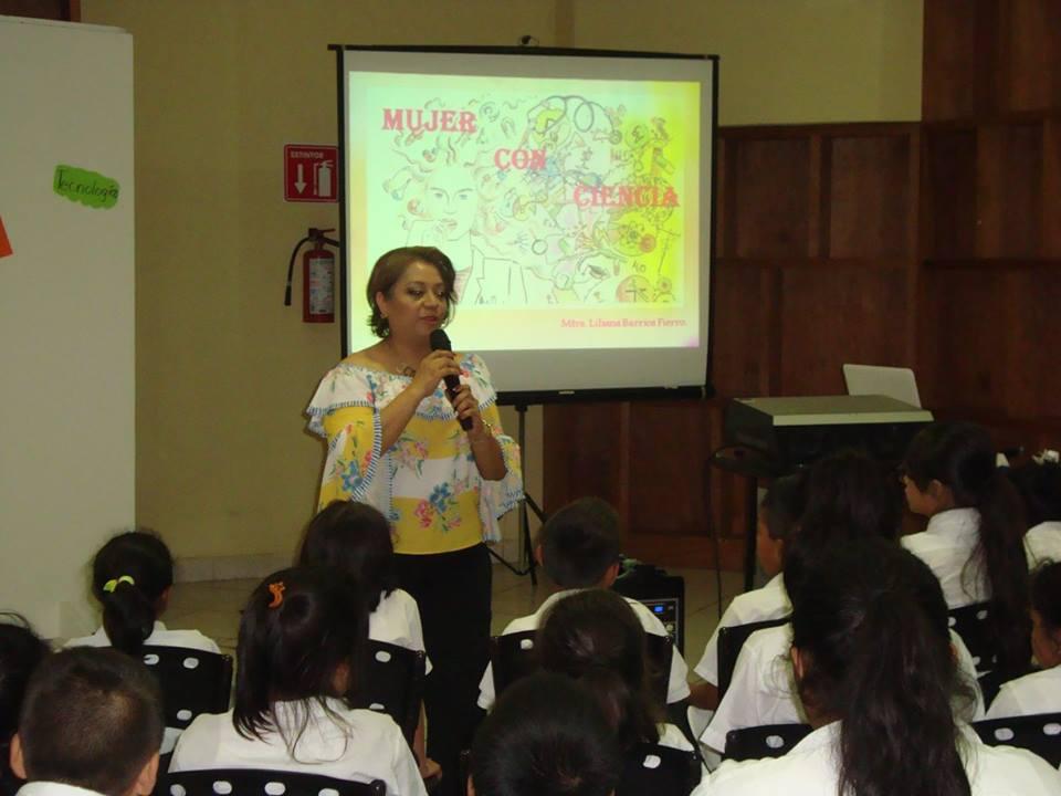 """Imparte Cobach conferencia """"Mujeres con Ciencia"""""""