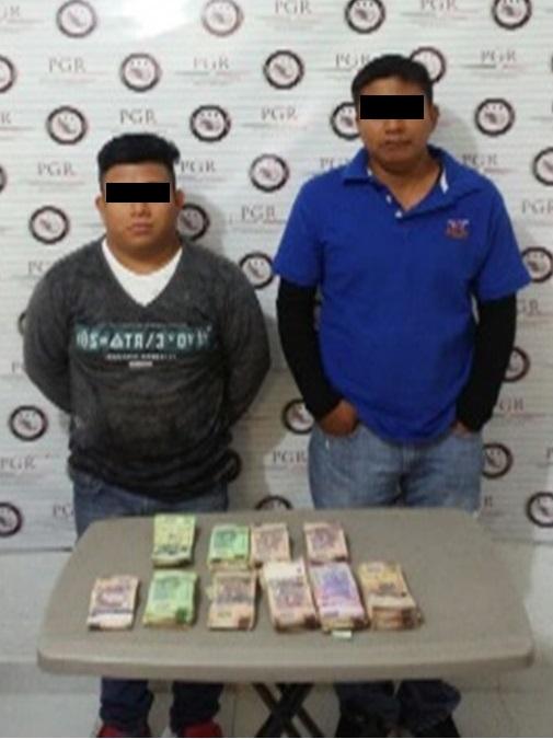 PGR Chiapas asegura a dos personas por delito recursos de procendencia ilícita