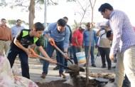 Refuerza Fernando Castellanos la reforestación de espacios públicos en la capital