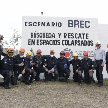 Autoridades del Comando Norte de Estados Unidos capacitan a la policía federal en la Escuela Nacional de Protección Civil en Chiapas