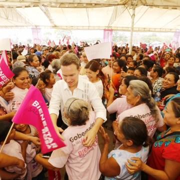 Bienestar Salario Rosa para beneficiar a mujeres: Velasco