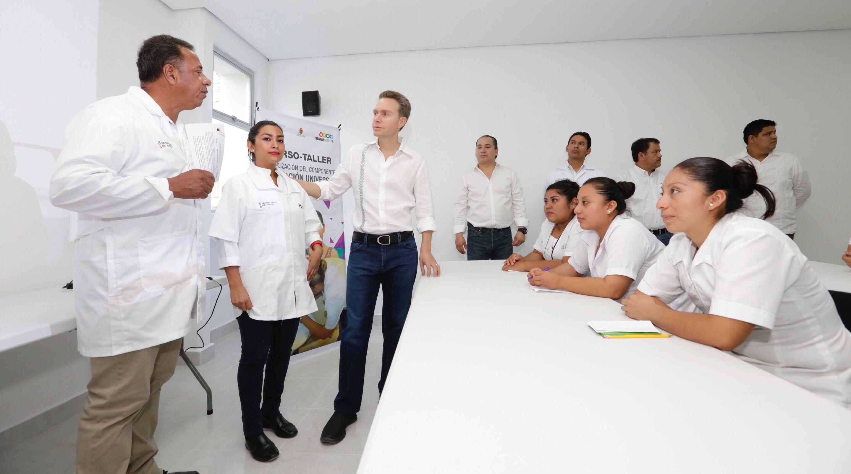 Inaugura MVC Centro Jurisdiccional de Vacunología en Palenque