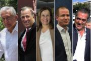 Así llegan los candidatos presidenciales al primer debate