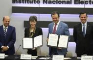 Firman INE y TEPJF convenio para agilizar justicia electoral
