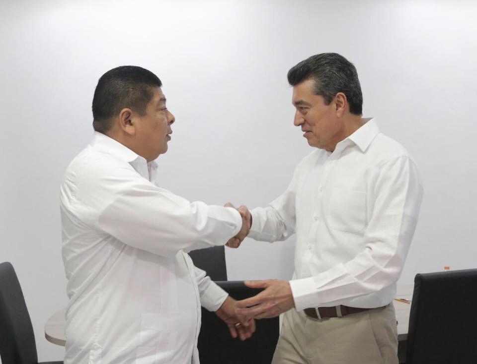 Se reúne Rutilio con el nuevo  dirigente estatal de Morena