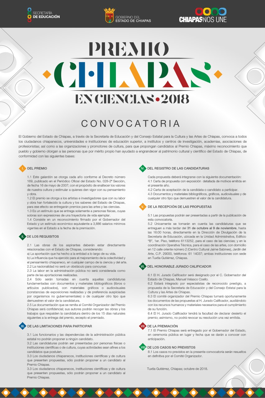 Premio Chiapas 2018