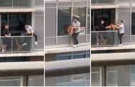 Hombre arriesga su vida en un edificio para recuperar a su gato
