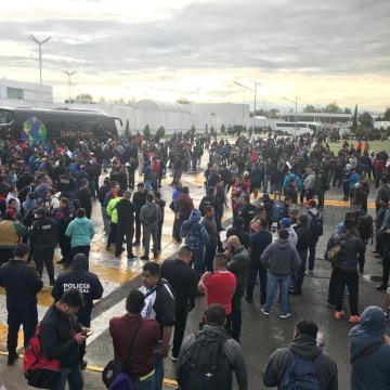 Protestan elementos de la Policía Federal contra imposición de sumarse al INM