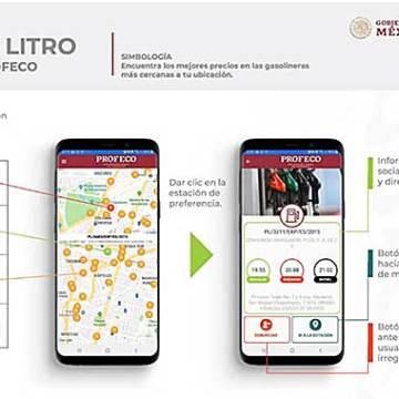 Lanzan app 'Litro X Litro' para ubicar las mejores gasolineras