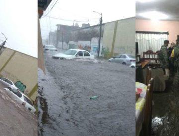 (VIDEOS) Lluvia afecta varias colonias en Tapachula, casas encharcadas y derrumbes.