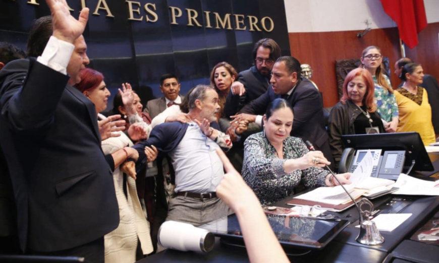 Entre zafarrancho, Rosario Piedra Ibarra protesta como titular de la CNDH (VIDEOS)