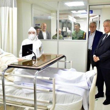 ISSSTE confirma que foto de AMLO en un hospital es parte de «un simulacro»