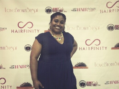 """Yours truly at the """"LET YOUR HAIR DOWN"""" EXPO NYC"""