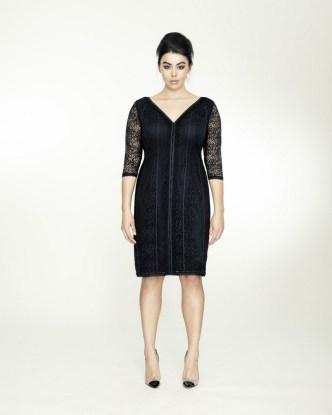 STRETCH LACE V DRESS BY ISABEL TOLEDO
